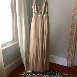 Anthropologie Needle & Thread gown